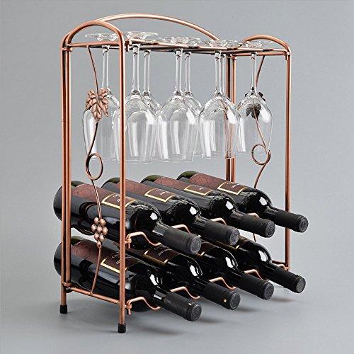 Ieasycan Bottle Wine Rack Holder Bar Storage Iron Decor Kitchen Glass Wall Display Home