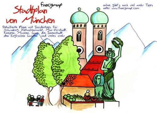 fancymap Stadtplan von München: Der etwas andere Stadtbegleiter
