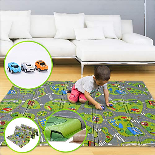 "Kids Play Mat   BPA Free Non-Toxic Foam Folding Baby Care Playmat 78.7"" x 70.8"