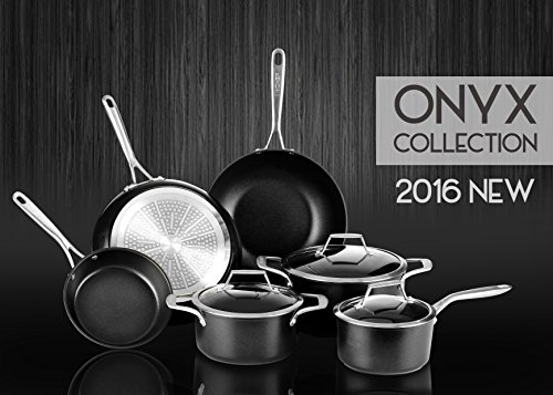 TECHEF - Onyx Collection, 8-Inch Frying Pan, coated with New Teflon Platinum Non-Stick Coating (PFOA Free) (8-inch)