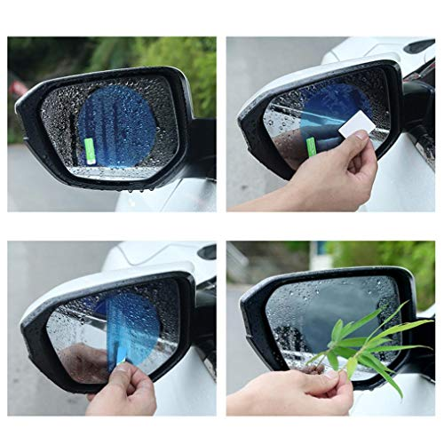 Longay 2pc Car Rearview Mirror Protector Auto Anti Fog Rainproof Rear View Mirror Clear Protective Film (A)