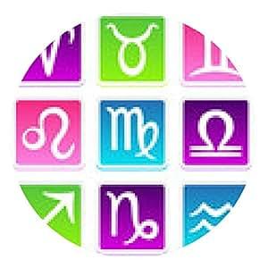 alfombrilla de ratón símbolo colorido del zodiaco fijado en el fondo blanco - ronda - 20cm