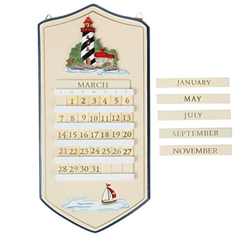 MSR Perpetual Calendar, Lighthouse Perpetual Calendar  (Wall Calendar Perpetual)