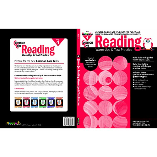 Newmark Common Core Reading Warm-Ups and Test Practice Book, Grade 4 (CC Warm-Ups)