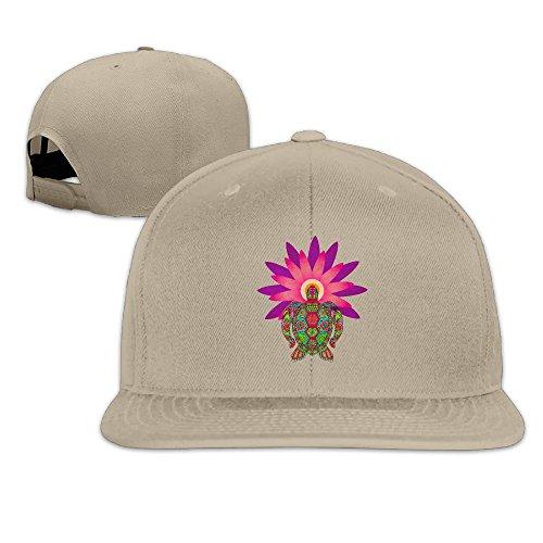 Vintage Turtle Sunflower Peacock Tail Cap Hat New Solid Flat Bill Hip Hop Snapback Baseball Cap HAILIN TATTOO