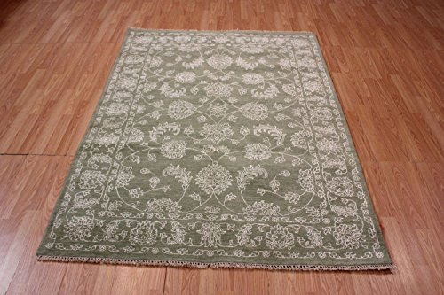 NYC Rugs New 5X8 Wool Hand Knotted 4'8 X 6'6 Modern Agra Oriental Area Rug - Agra Wool Area Rug