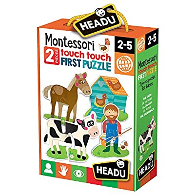 Headu 1041742 Montessori Touch First Puzzle Set Per Bambini Montessori Conoscenza Del Mondo 1