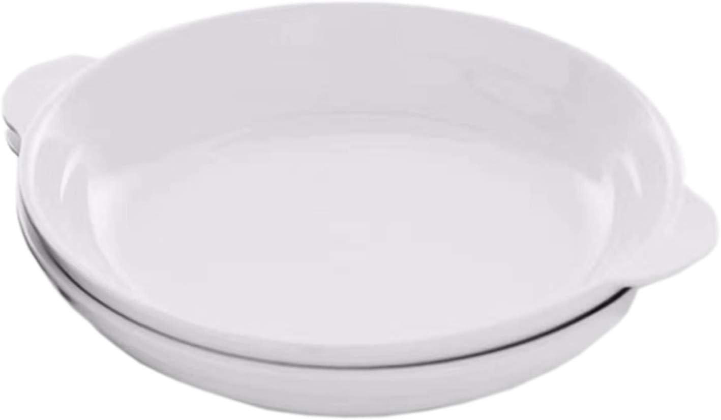 RunChao Porcelain Baking Dish, Rarebit, Fine White Porcelain 11 Inches Set Of (2) (11 Inches 2 PACK)