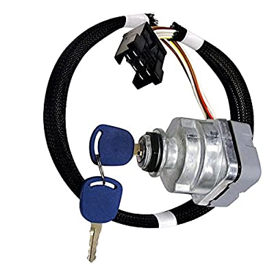 Ignition Switch For Ford Holland 5640, 6640, 6640O, 7740, 7740O, 7840, 7840O, 8160, 8240, 8260, 8340, 8360, 8560+ Series, 81864288, 87561528, F0NN11N501AA, 1100-0962: Automotive