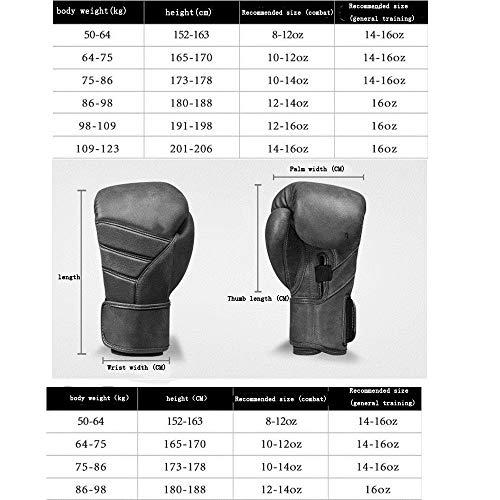 ROBDAE Training Boxing Gloves Boxing Gloves Boxing Gloves for Men and Women Gloves Muay Thai Artificial Leather Gloves Training Gloves (Color : Brown, Size : 14oz)