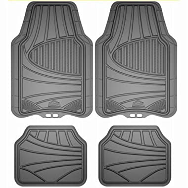 Custom Accessories Armor All 78841 4-Piece Grey All Season Rubber Floor Mat