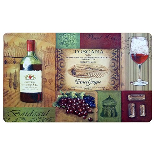wine and grapes kitchen rugs - 6