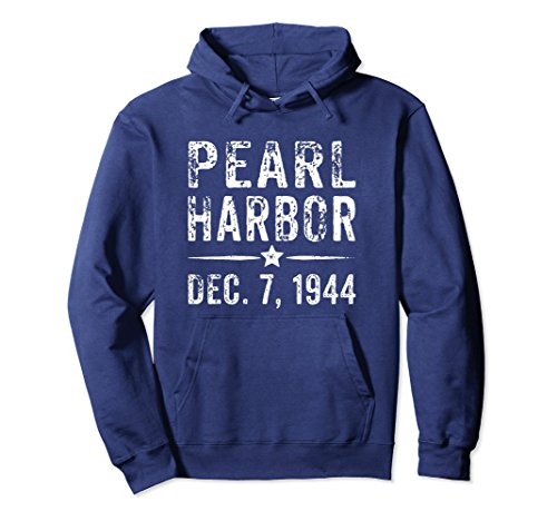Commemorative Hoody (Unisex Pearl Harbor Hoodie - Commemorative Pearl Harbor Gift Large Navy)