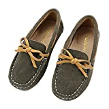 Tortor 1Bacha Boys' Suede Moccasin Slipper Slip On Loafers