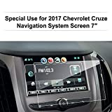 Chevrolet Cruze 2017 7 Inch Car Navigation Screen Protector,LFOTPP [9H Hardness] Clear Tempered Glass In-Dash Screen Protector Center Touch Screen Protector Anti Scratch High Clarity