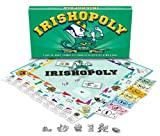 Enjoy this themed monopoly style game with a Irish twist. Fun and educational. Collegiate theme. Recognize your favorite places and tokens.