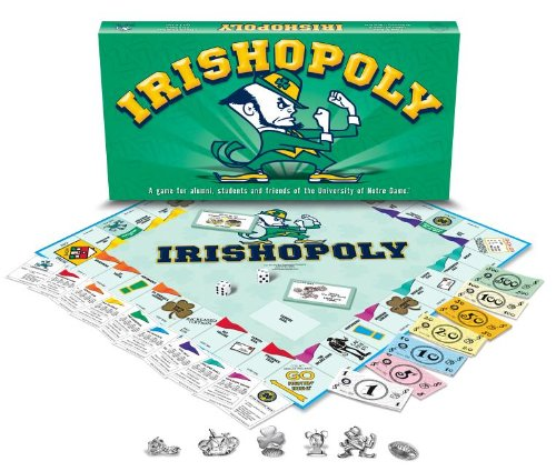 Monopoly Opoly - Late for the Sky University Of Notre Dame Monopoly