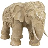 Oriental Furniture 20'' Ivory Elephant Statue