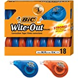 BIC Wite-Out Brand EZ Correct Correction Tape, White, 18-Count
