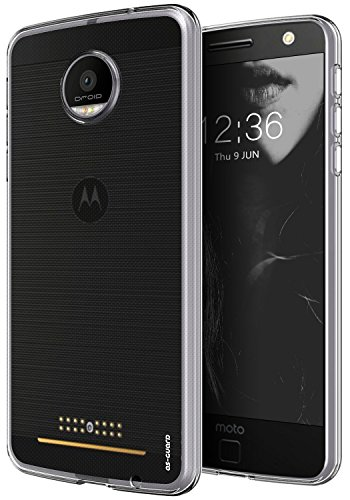 Moto Z Force Case, As-Guard Ultra [Slim Thin] Flexible TPU Gel Rubber Soft Skin Silicone Protective Case Cover For Motorola Moto Z Force Droid (Clear)