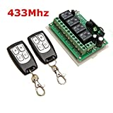 OAGTECH 12V 4CH Channel 433Mhz Wireless Remote Control Switch With 2 Transmitter