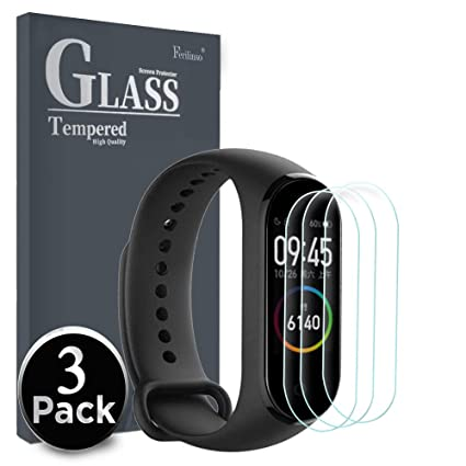 Ferilinso [3 Pack] Screen Protector for Xiaomi Mi Band 4,High Sensitive Full Coverage Case Friendly 3D PET Flexible TPU Film with Lifetime Replacement ...