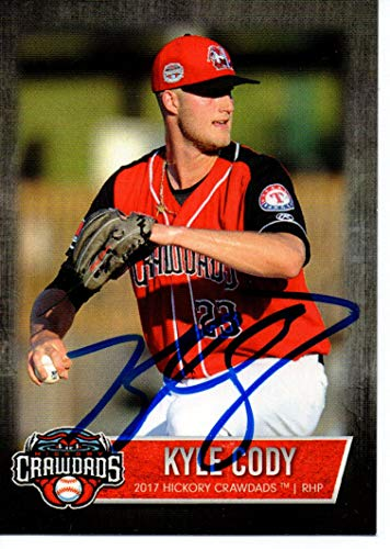 Kyle Cody 2017 Hickory Crawdads Update Autographed Signed Card