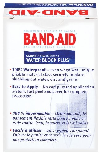 Band-Aid Brand Water Block Plus Waterproof Clear Adhesive Bandages for Minor Cuts and Scrapes, 30 ct (6 Pack) by Band-Aid (Image #2)