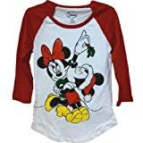 Disney's Teen/Junior Fashion Top Kiss Holiday Mickey Minnie