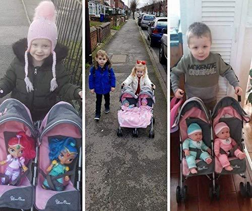 Amazon.es: Silver Cross Silla de Paseo gemelar para muñecos Pop: Tejido Vintage Pink. Recomendado para niños de 18 Meses a 3 años.: Juguetes y juegos