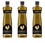 Set of 3 Extra Virgin Olive Oil Victor Guedes El Gallo Reserve Aceite de Oliva Premium Extra Virgen From Portugal (75.9Oz 2250 ml)
