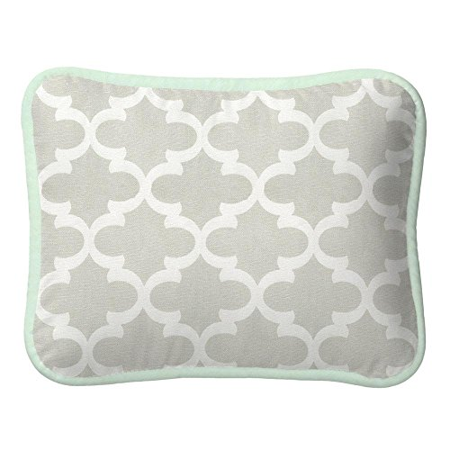 Carousel Designs French Gray and Mint Quatrefoil Decorative Pillow Rectangular by Carousel Designs