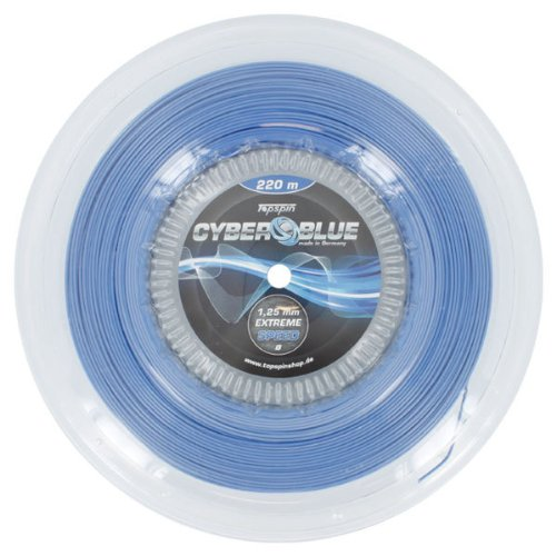 Topspin Cyber Blue Tennis String - Extreme Speed - 1.25mm / 16L - Blue - 722ft/220m Reel