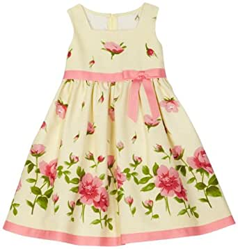 Bonnie Jean Little Girls' Toddler Girls Yellow Linen Dress, Yellow, 3