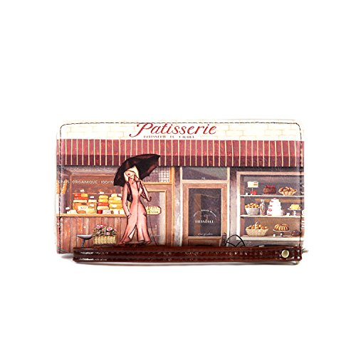 nicole lee 'Gitana' Vintage Print Wristlet Wallet patisserie (Nicole Lee Purses Paris)