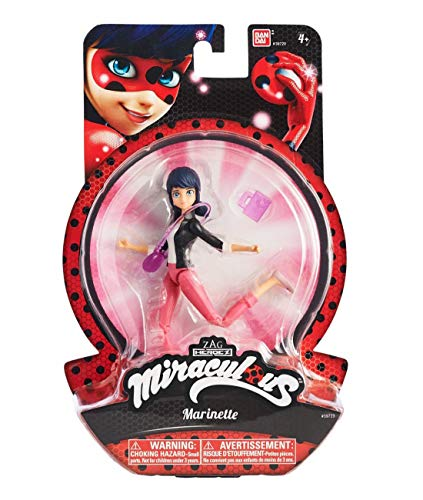 "Miraculous 5.5/"" Marinette Action Doll Favorite High Schooler w// Purse /& Diary"