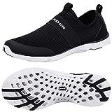 ALEADER Women's Quick-Dry Aqua Water Shoes Black/White 8.5 D(M) US