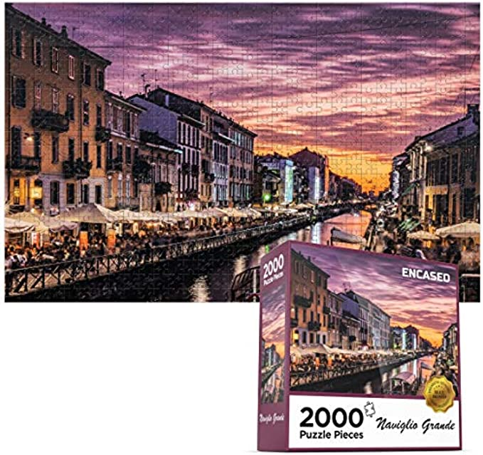 2000 Piece Puzzle for Adults/Teen - Large Jigsaw Puzzle Naviglio Grande