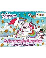 CRAZE Adventskalender UNICORN enhörning julkalender 2021 för flickor pojkar leksakskalender 24 fantastiska barn överraskningar 3388