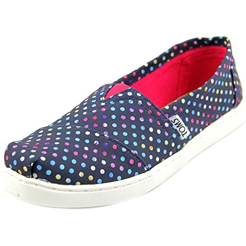 Toms Classics Blue Poly Canvas Dots 10006649 Youth 2