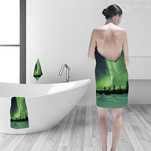 Nalahomeqq - Juego de toallas de baño decorativas con estampado de mosaico étnico en color azul y blanco sin costuras, con...