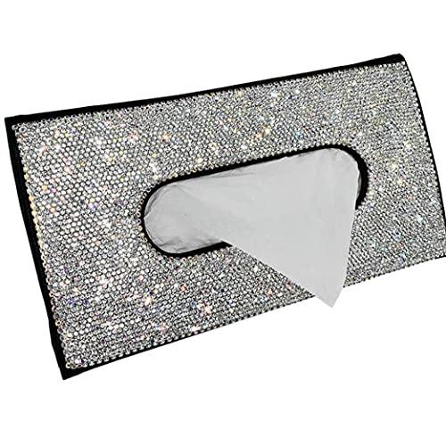 Zonneklep Tissue Box Car SERVETHOUDER Crystal Sparkling Car Tissue Case Montage achterop papieren handdoek houder voor…