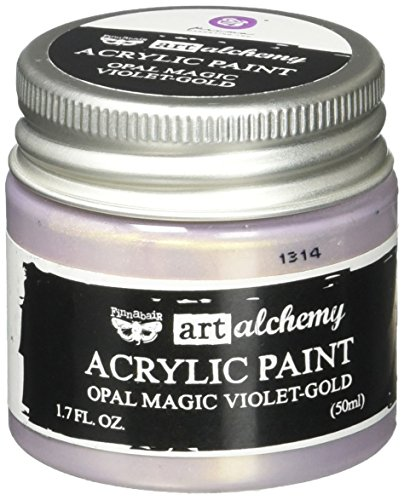 Prima Marketing 963637 Finnabair Art Alchemy Acrylic Paint, 1.7 fl. oz, Opal Magic Violet/Gold