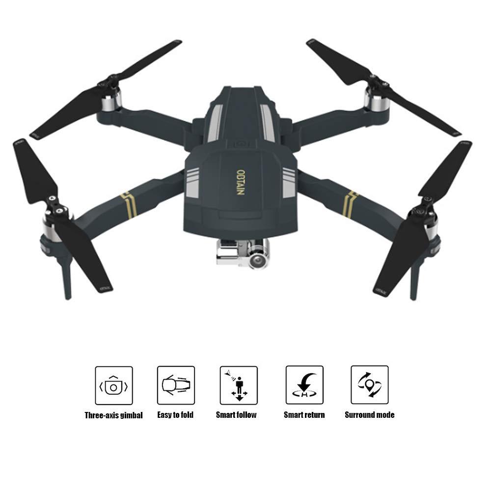 Xianxian88 Faltteilbare Mini-FPV-Ferndrohne, 1080P HD-Kamera-Drohne, DREI-Achsen-Pan tilt fixierte Surround-Follower außer Steuerschutz, Echtzeitkneipe-Fundzeug