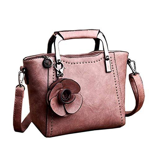 Tracolla Rosa Borsa Vintage Dimensione colore Donna Da Willsego A Grigio Con wfdxEgdq4v