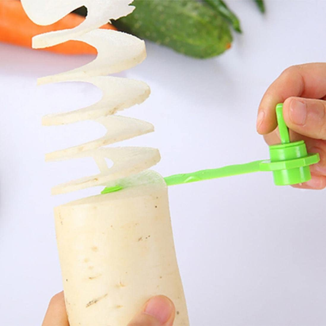 Carrot Spiral Slicer Potato Spiral Slicer Cutter Cooking Accessories U6I2
