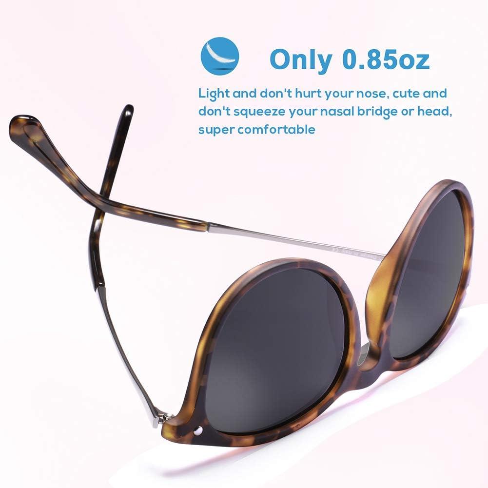 Carfia Retro Polarizzati Occhiali da sole donna uomo UV400 Protezione