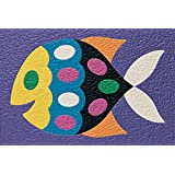 Lauri Crepe Rubber Puzzle - Fish  (Color Patterns May Vary)