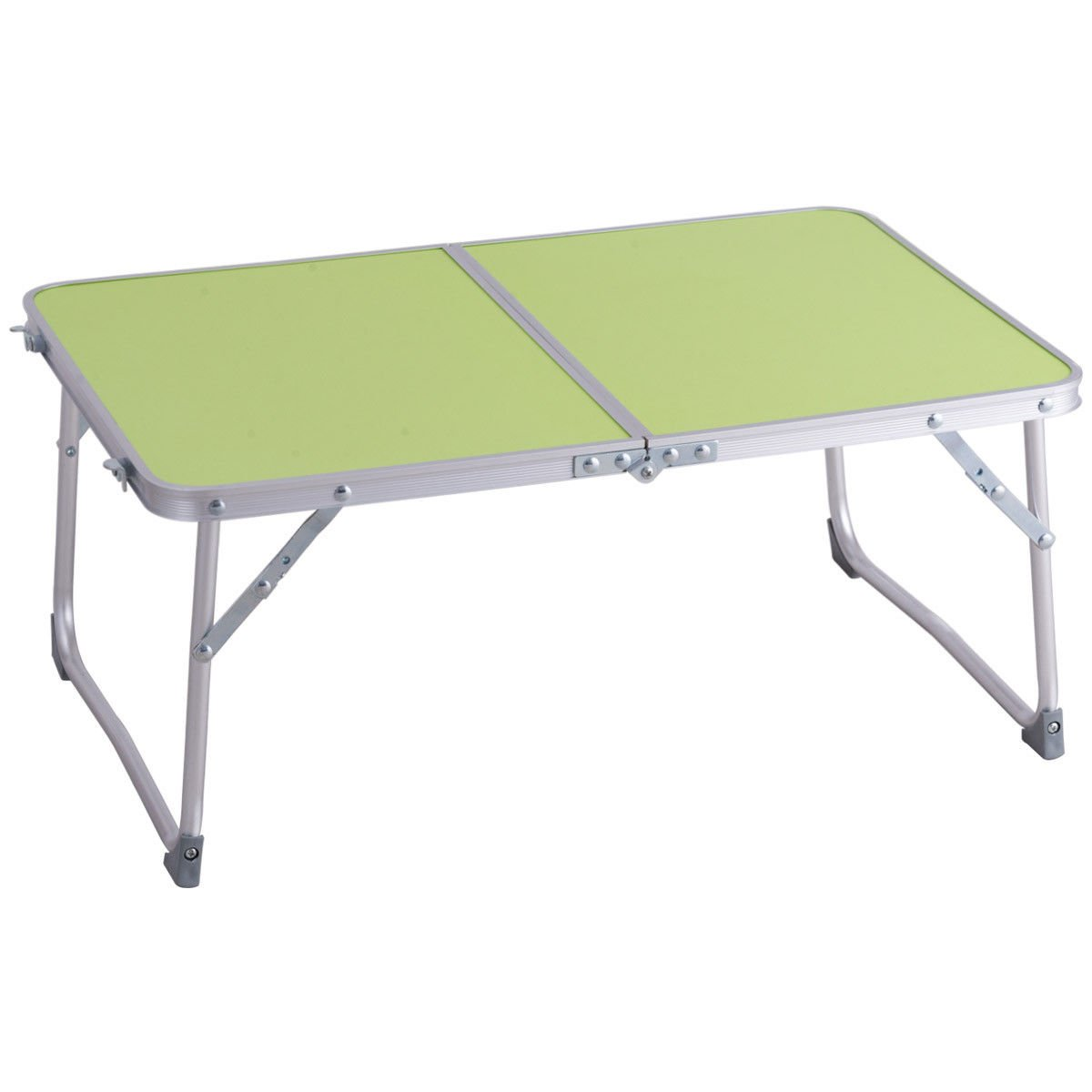 KCHEX>ポータブル折りたたみテーブル 車 ベッド ソファ ノートパソコン デスク トレイ スタンド グリーン>このエレガントなミニ折りたたみアルミテーブルは、キャンプや外出、仕事、自宅での使用に最適で、耐久性が特長です。   B07JV8Y5S8