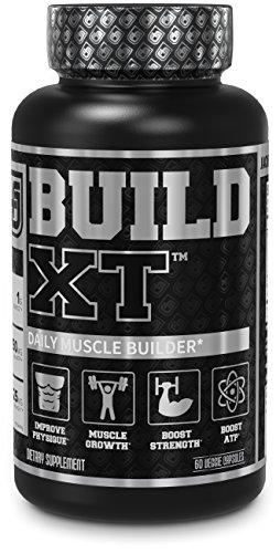 Build-XT Muscle Builder - Daily Muscle Building Supplement for Muscle Growth and Strength | Featuring Powerful Ingredients Peak02 & elevATP - 60 Veggie Pills (Best Muscle Building Testosterone Supplement)